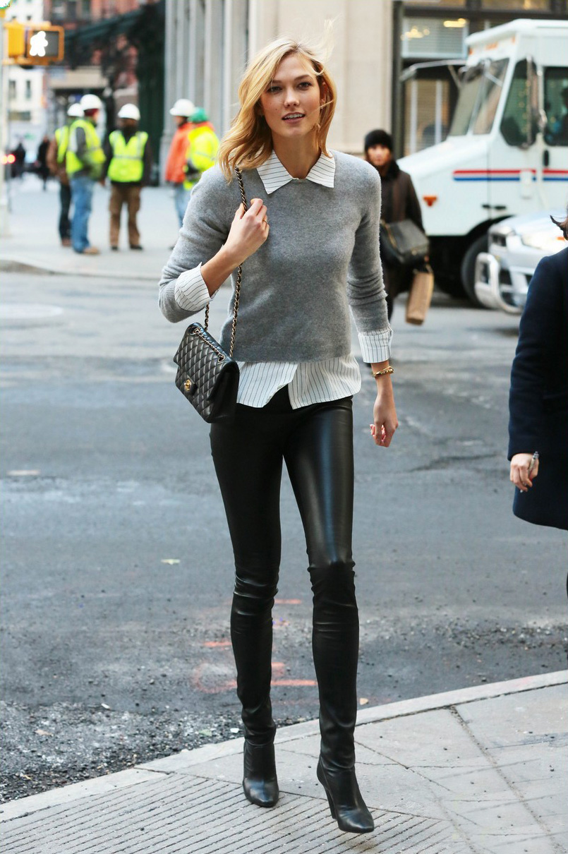 Karlie Kloss is spotted out for a stroll in New York City
