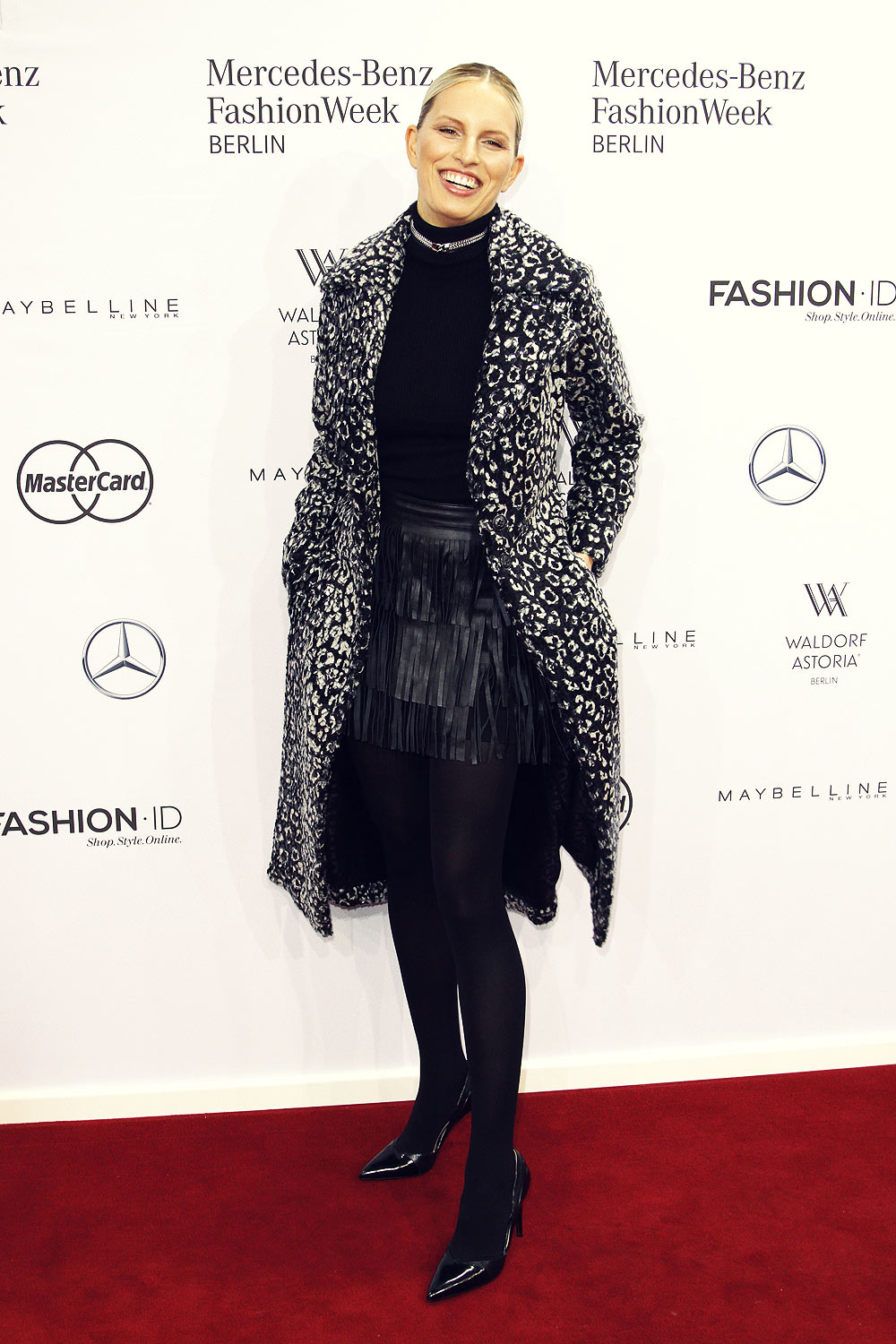 Karolina Kurkova attends Maria Kretschmer show during the Mercedes-Benz Fashion Week Berlin