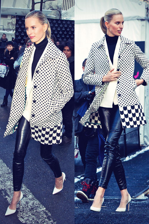 Karolina Kurkova attends Mercedes-Benz Fashion Week Fall 2014