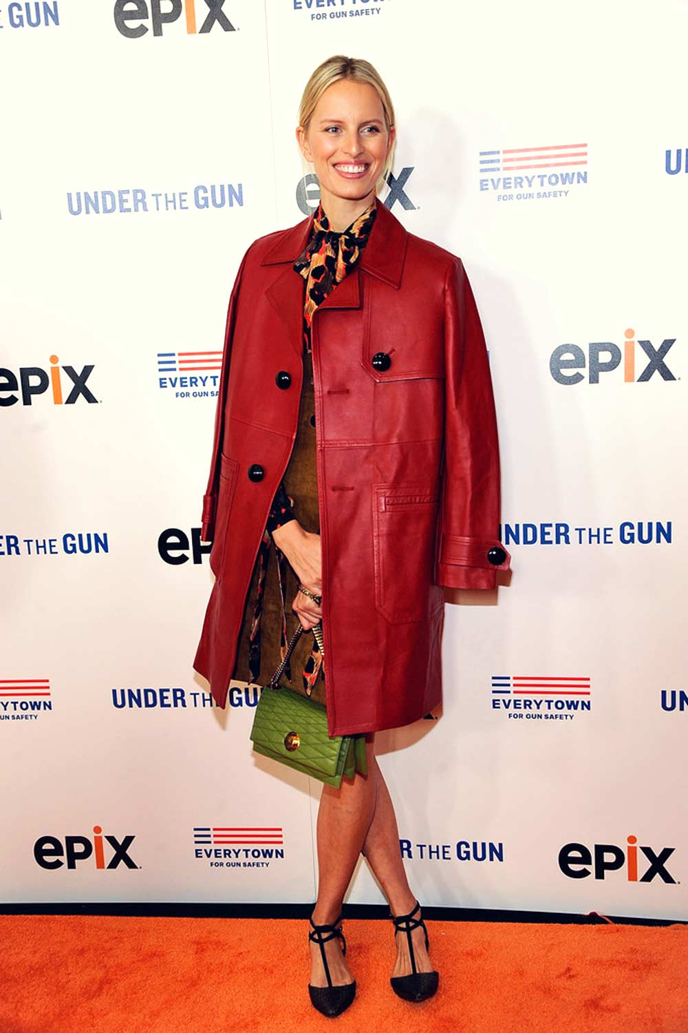 Karolina Kurkova attends the premiere of Under the Gun
