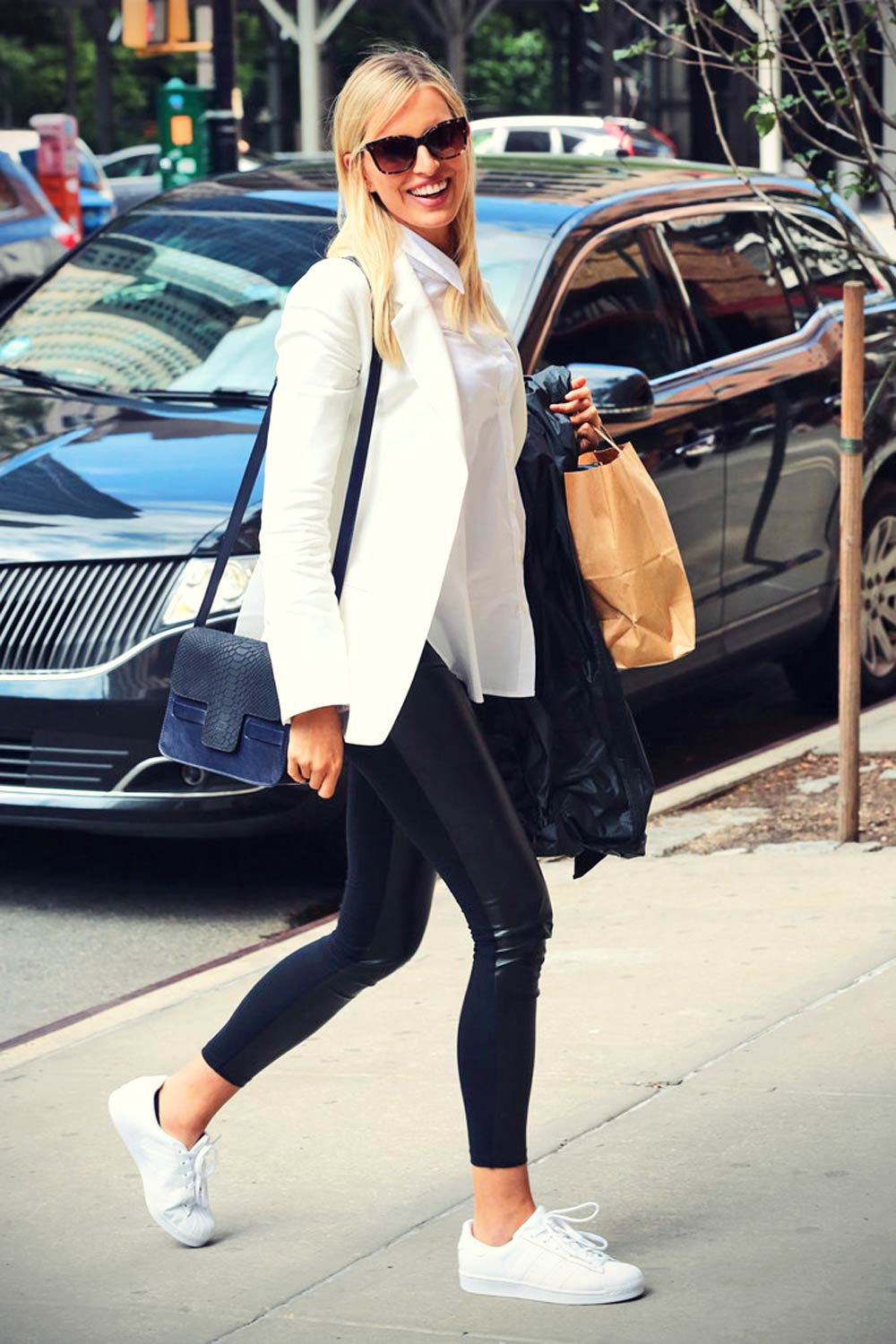 Karolina Kurkova is seen in New York City