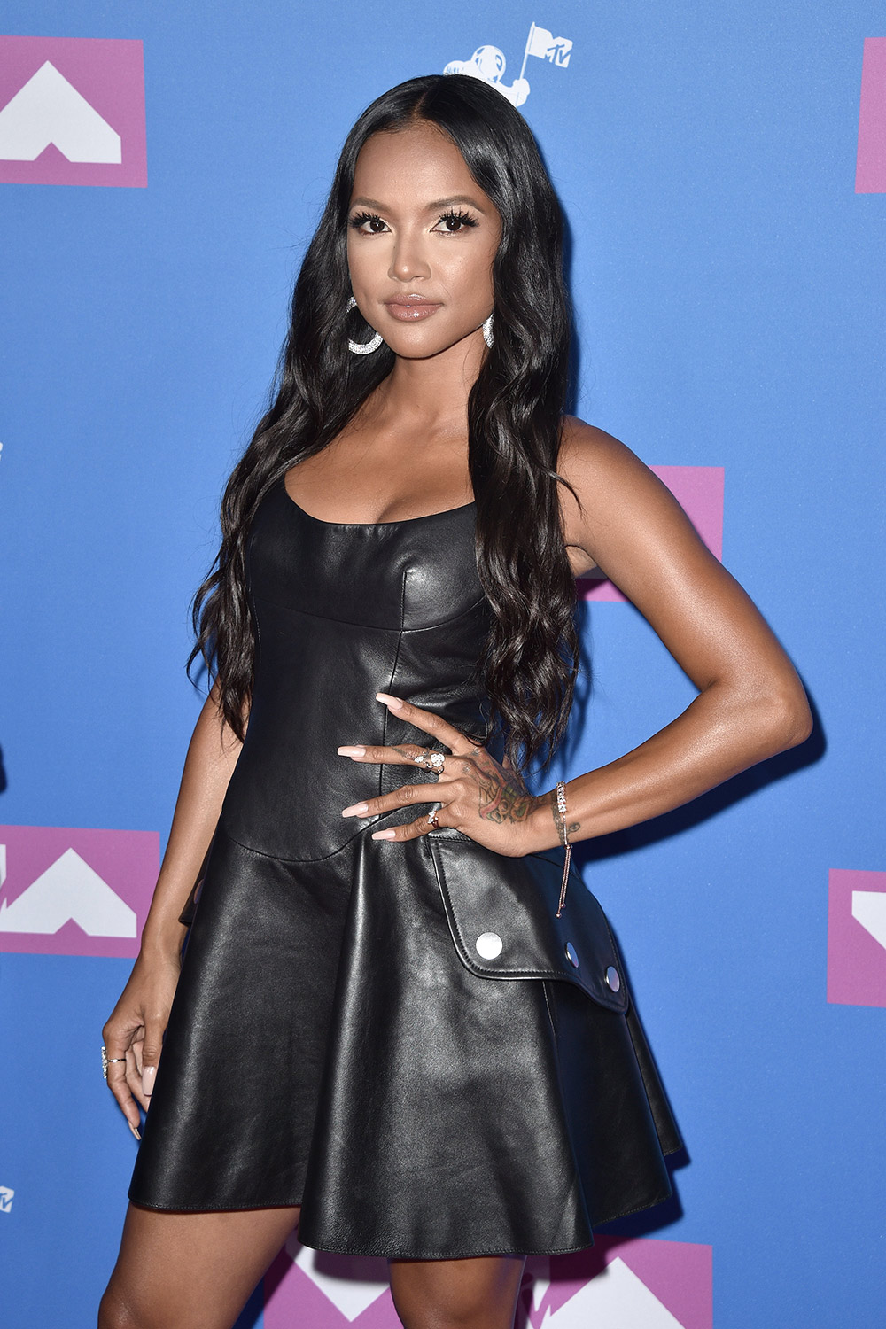 Karrueche Tran attends 2018 MTV Video Music Awards