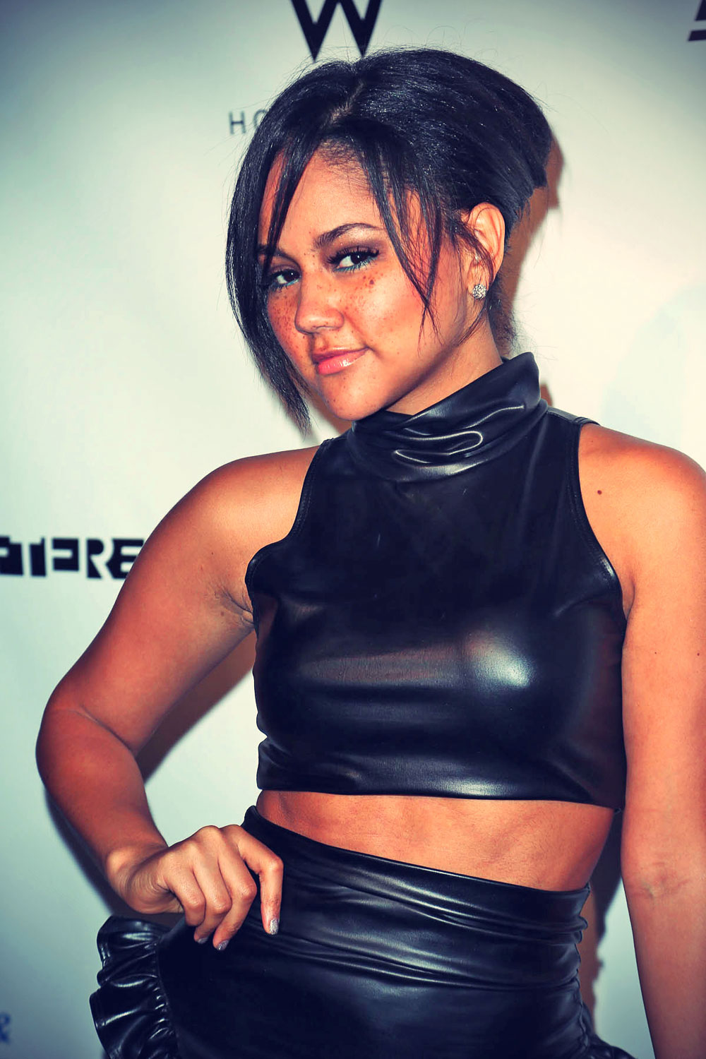 Kat Deluna attends Logo's Hot 100 Party at Drai's Nightclub