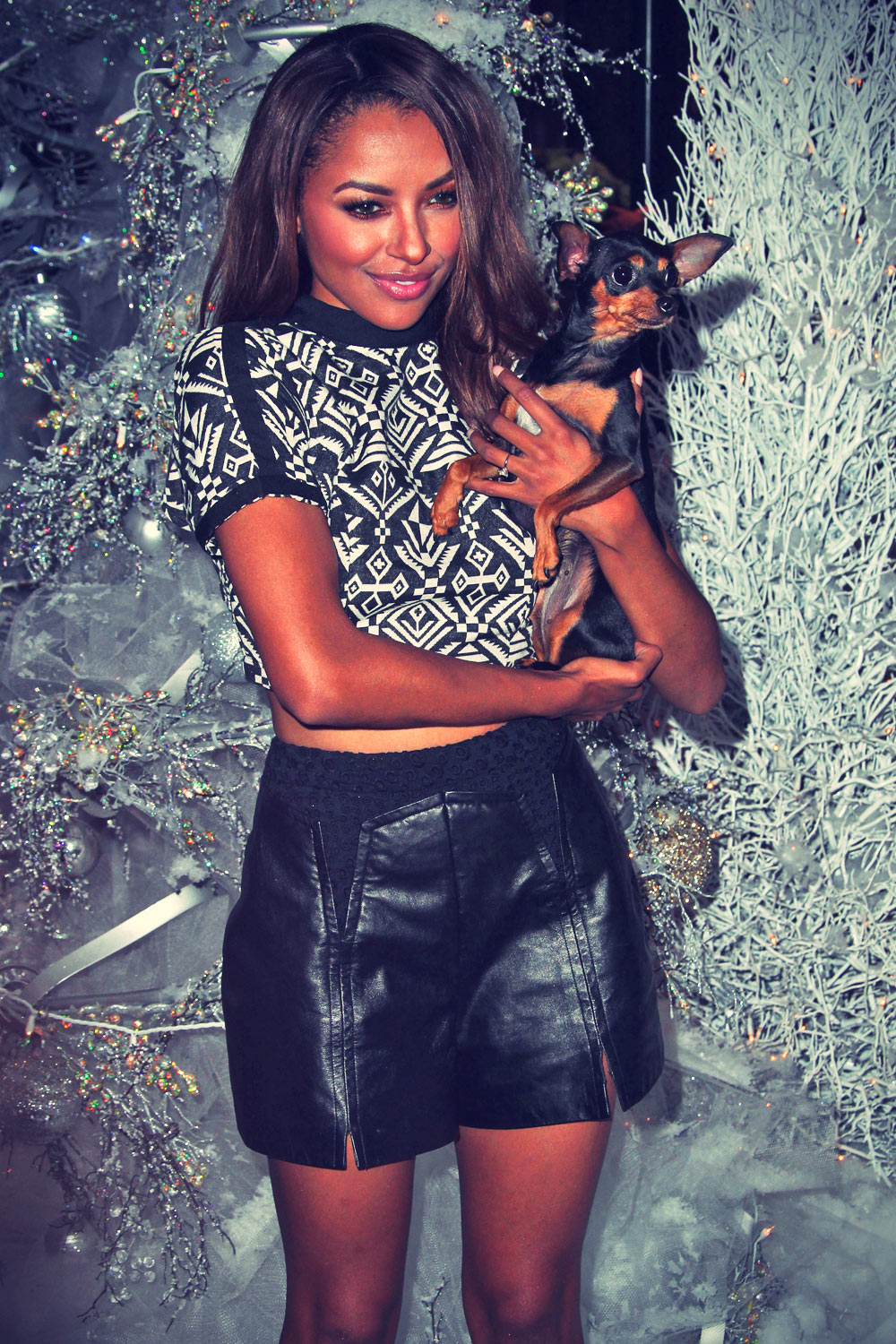 Kat Graham attends Beverly Center Holiday Debut With Stars & Their Pets