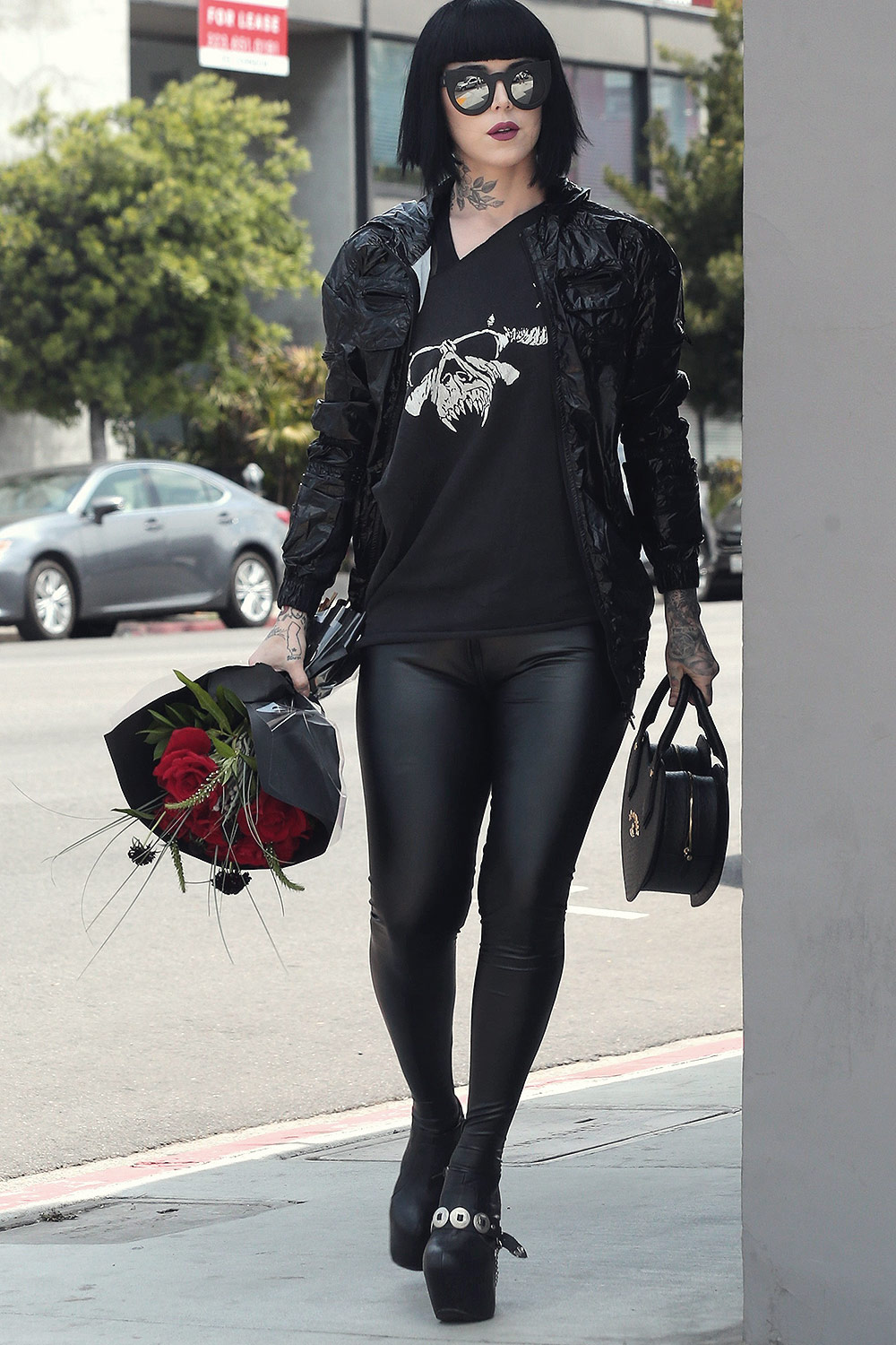 Kat Von D Out in Los Angeles