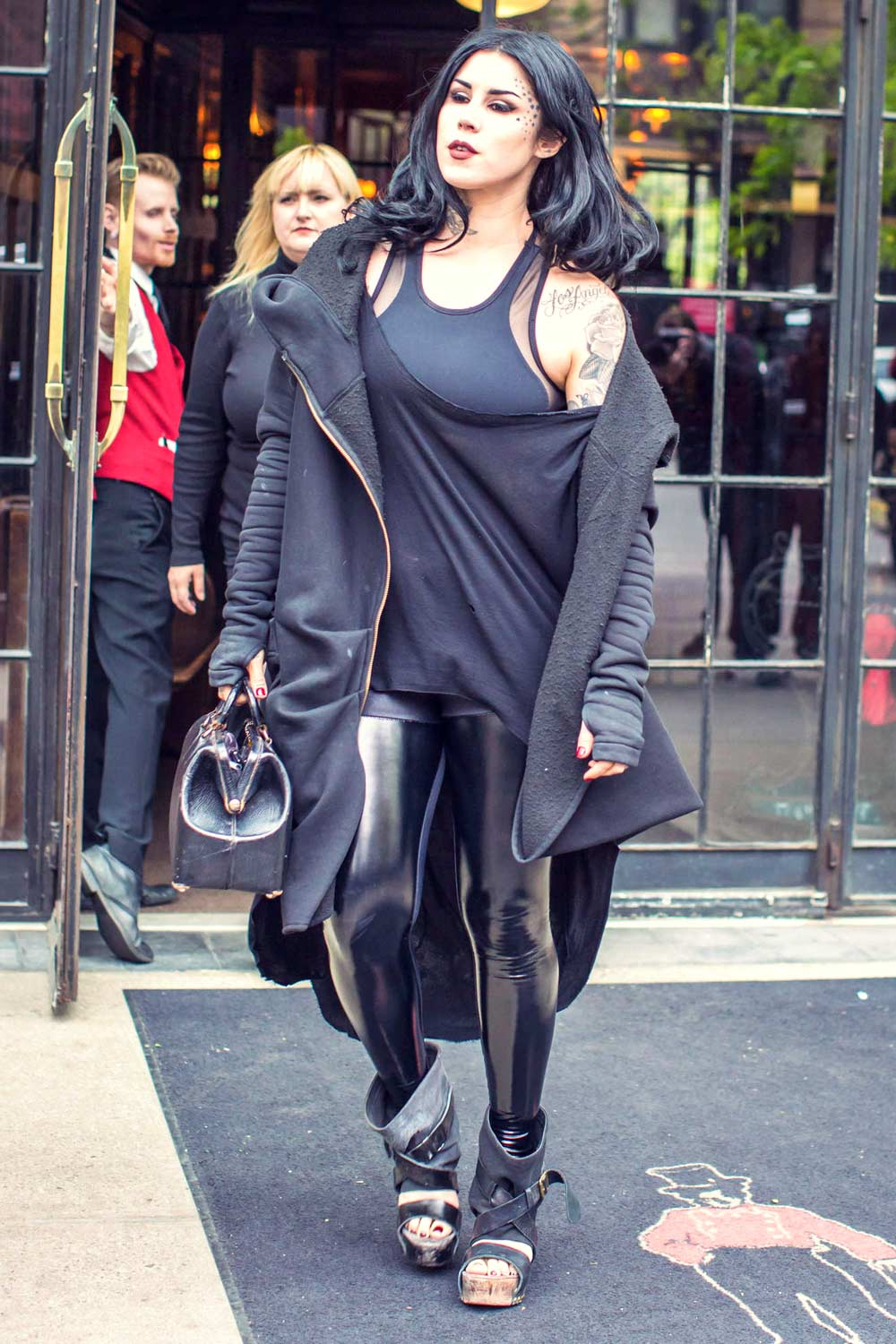 Kat Von D out in SoHo - Leather Celebrities