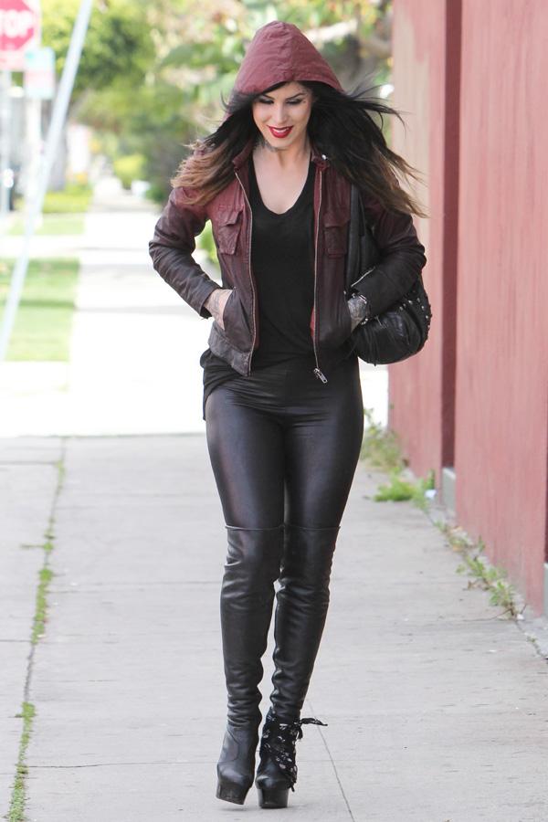 Kat Von D strolling in Beverly Hills