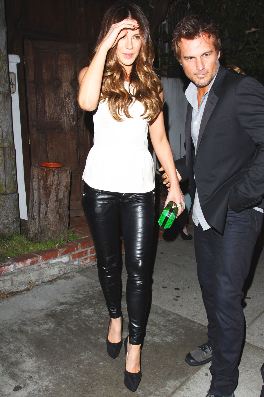 Kate Beckinsale leave Little Door Restaurant