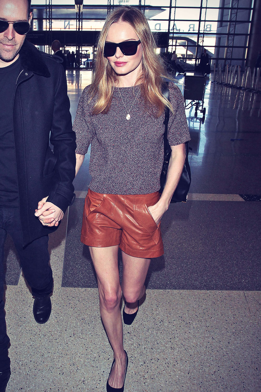 Kate Bosworth departing on a flight at LAX