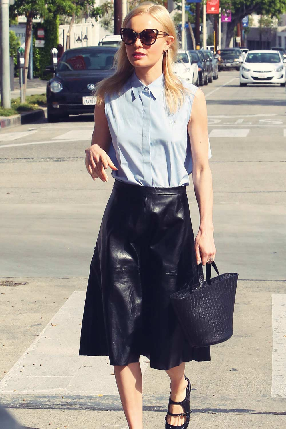 Kate Bosworth Out In Los Angeles Leather Celebrities