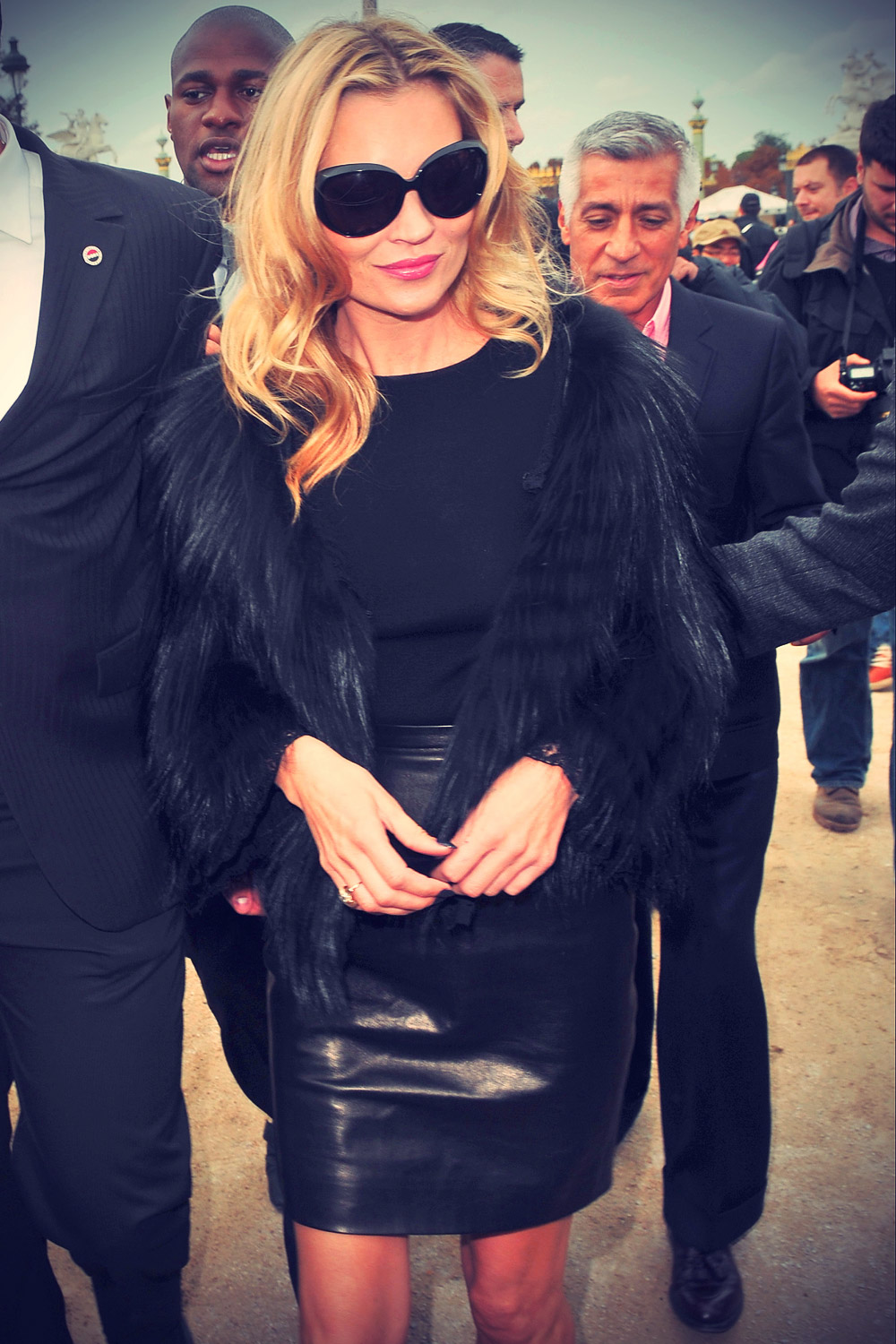 Kate Moss at Christian Dior Fashion Show during Paris FW