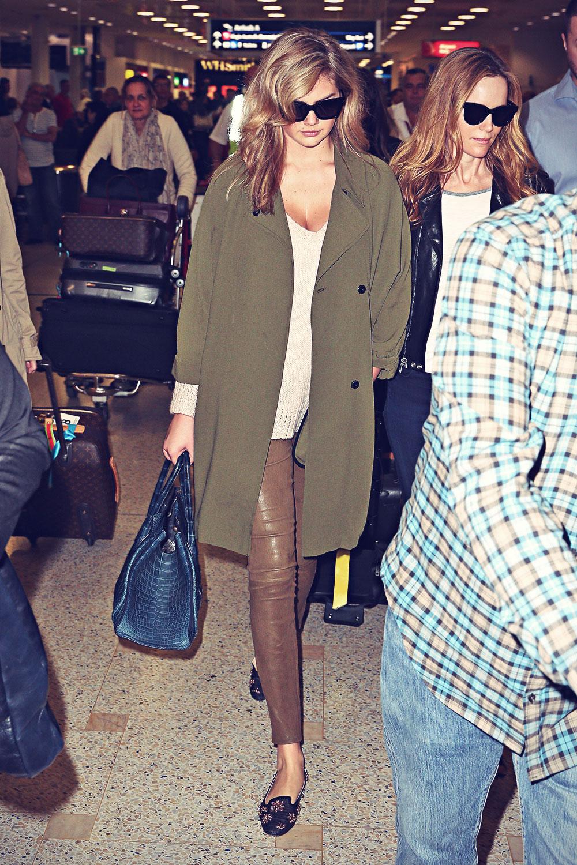 Kate Upton arrives in Sydney