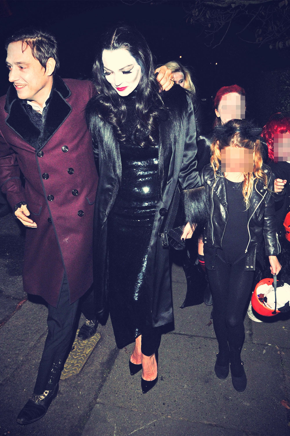 Kate Moss attends a Jonathan Ross Halloween party