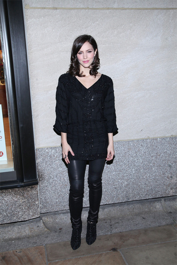 Katharine McPhee at Rockefeller Center Christmas Tree Lighting in NY