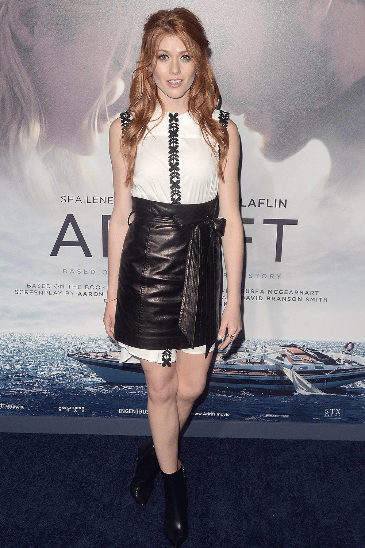 Katherine McNamara attends Adrift Premiere