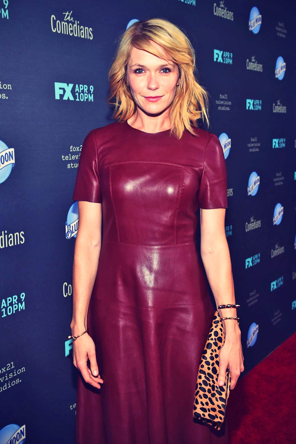 Katie aselton attends the premiere of the comedians leather