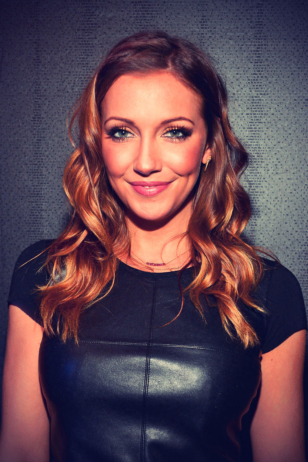 Katie Cassidy leather