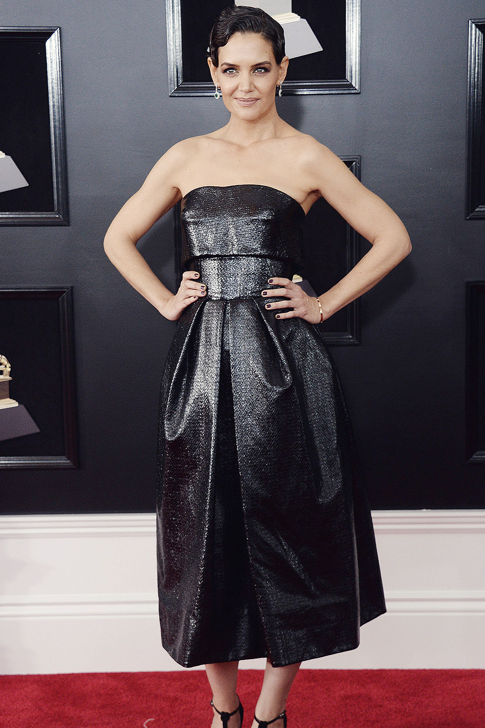 Katie Holmes attends 60th Annual Grammy Awards