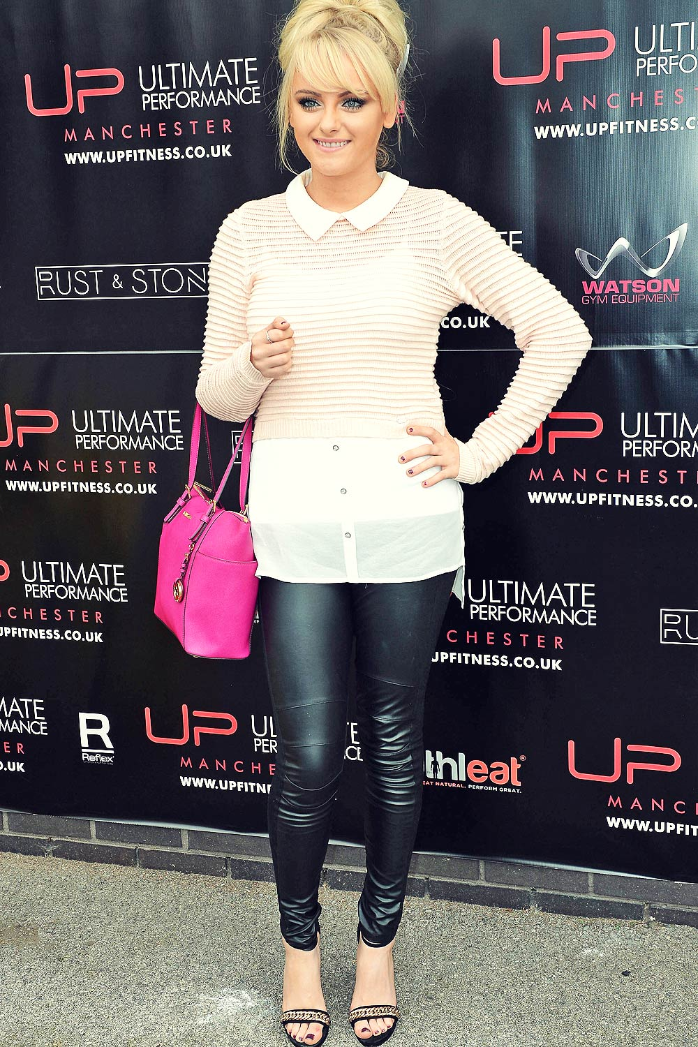 Katie McGlynn attends Ultimate Performance gym launch