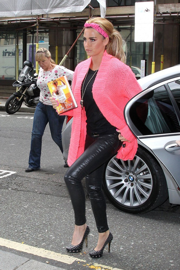 Katie Price at BBC Radio 2 studios in London