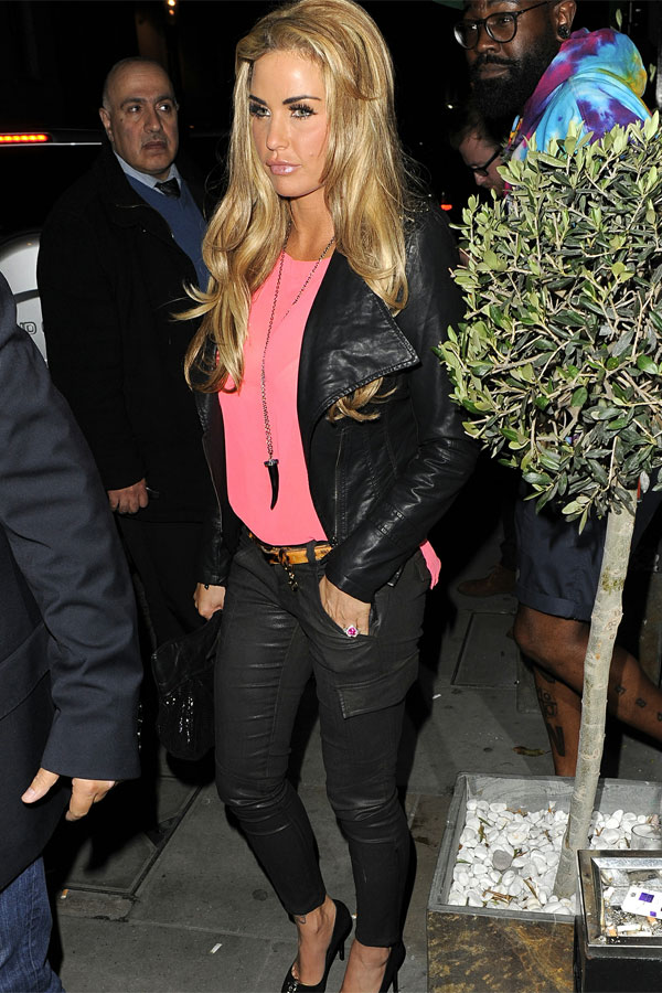 Katie Price at Zuma restaurant
