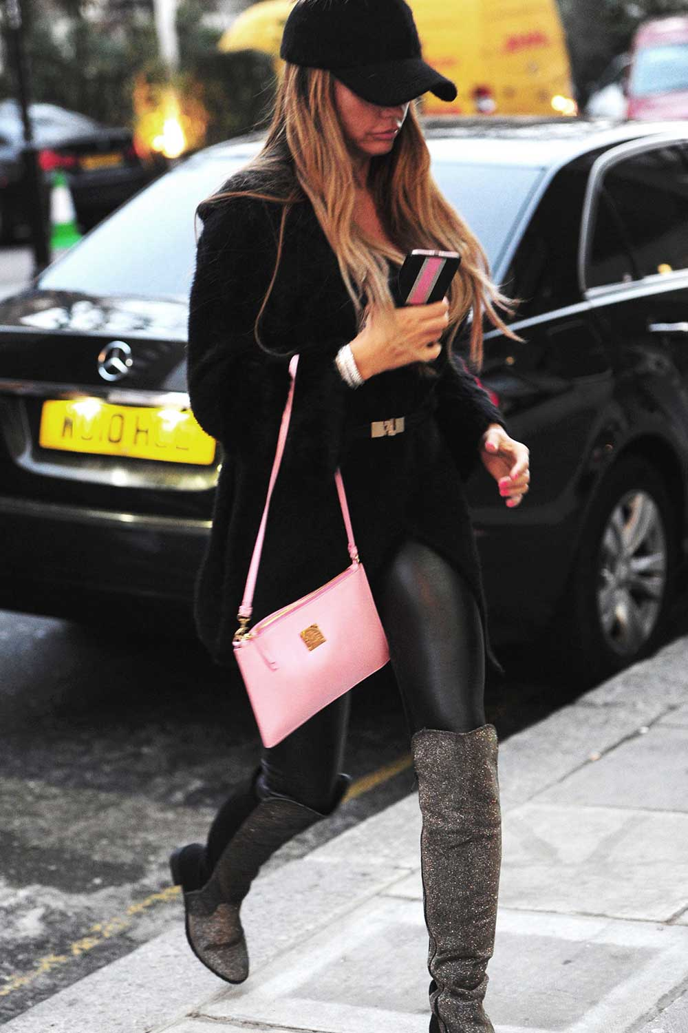 Katie Price christmas shopping in London