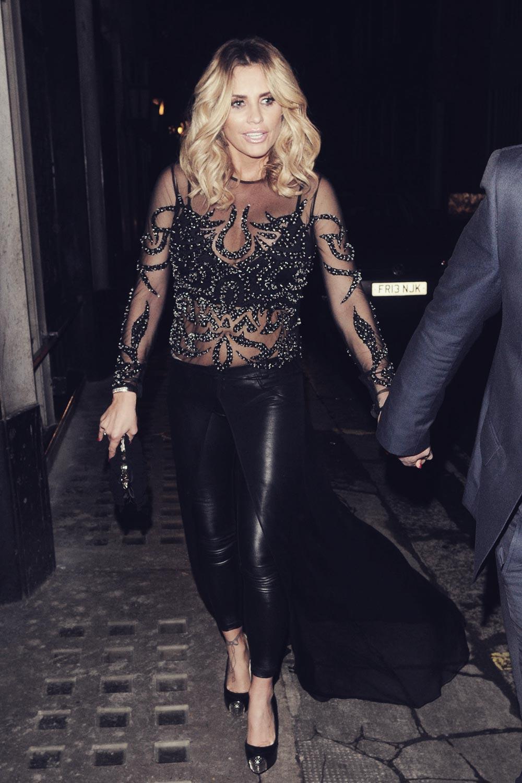 Katie Price leaving Ivy club in London