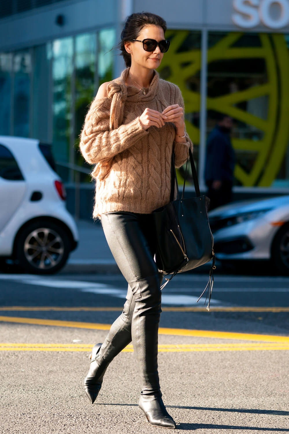 Katie Holmes out in Midtown NYC