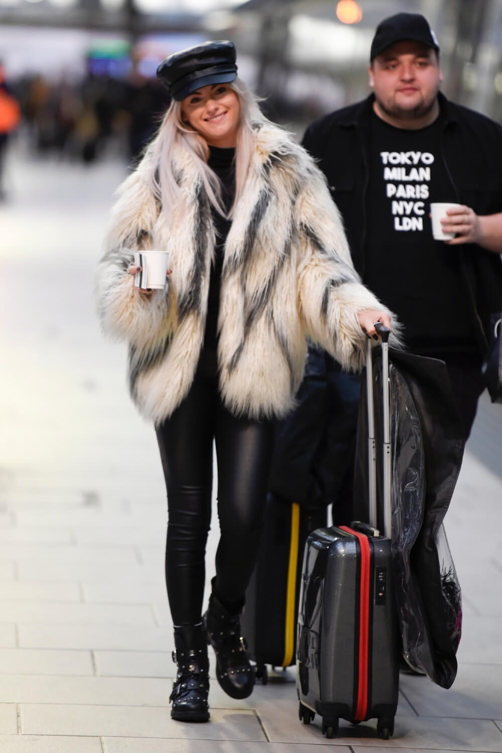 Katie McGlynn see catching an early morning train