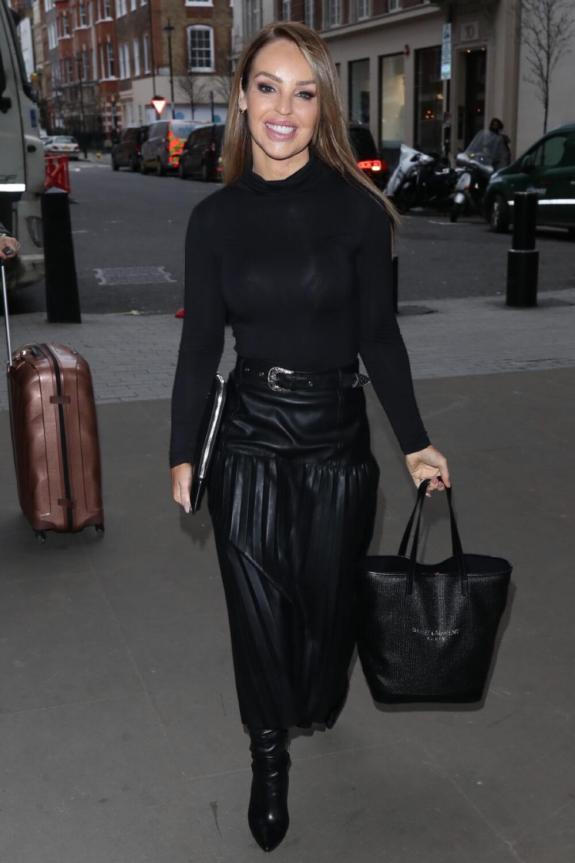 Katie Piper arriving at BBC studio