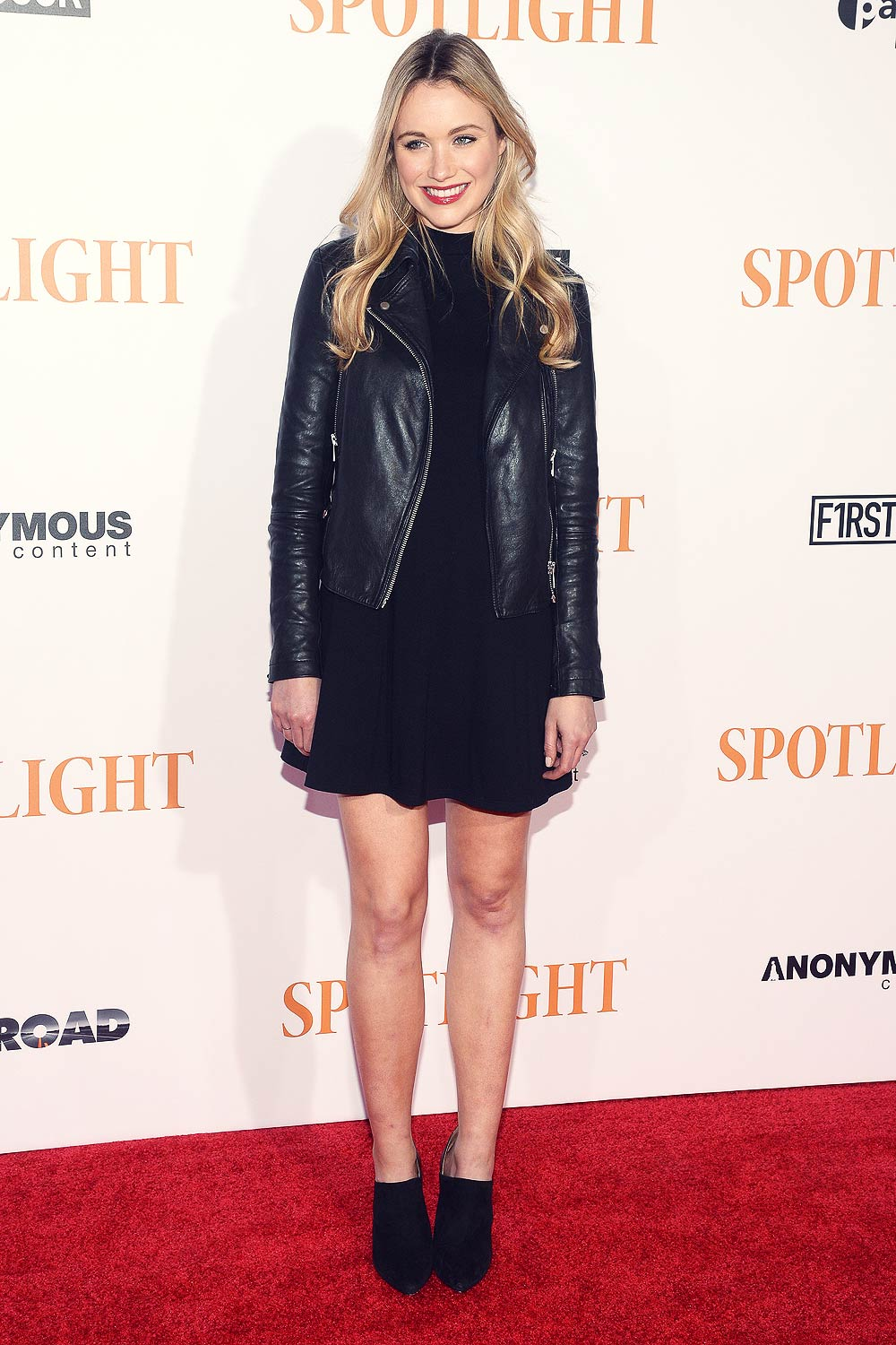 Katrina Bowden attends Spotlight New York premiere