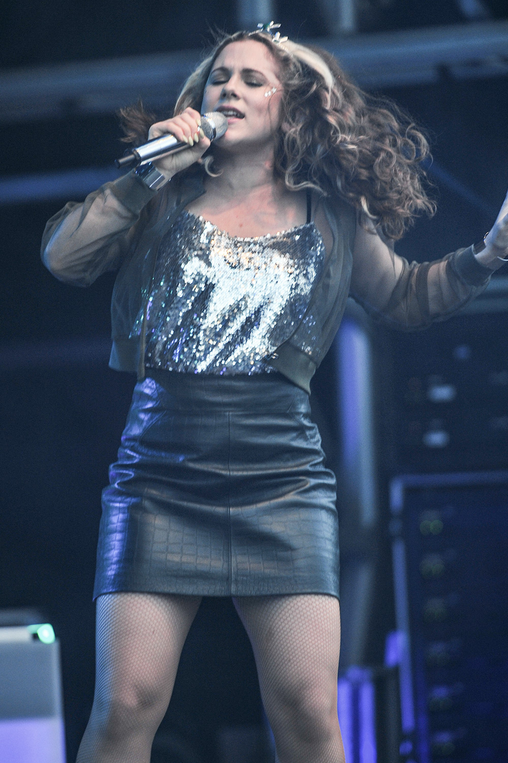 Katy B performs at Camp Bestival