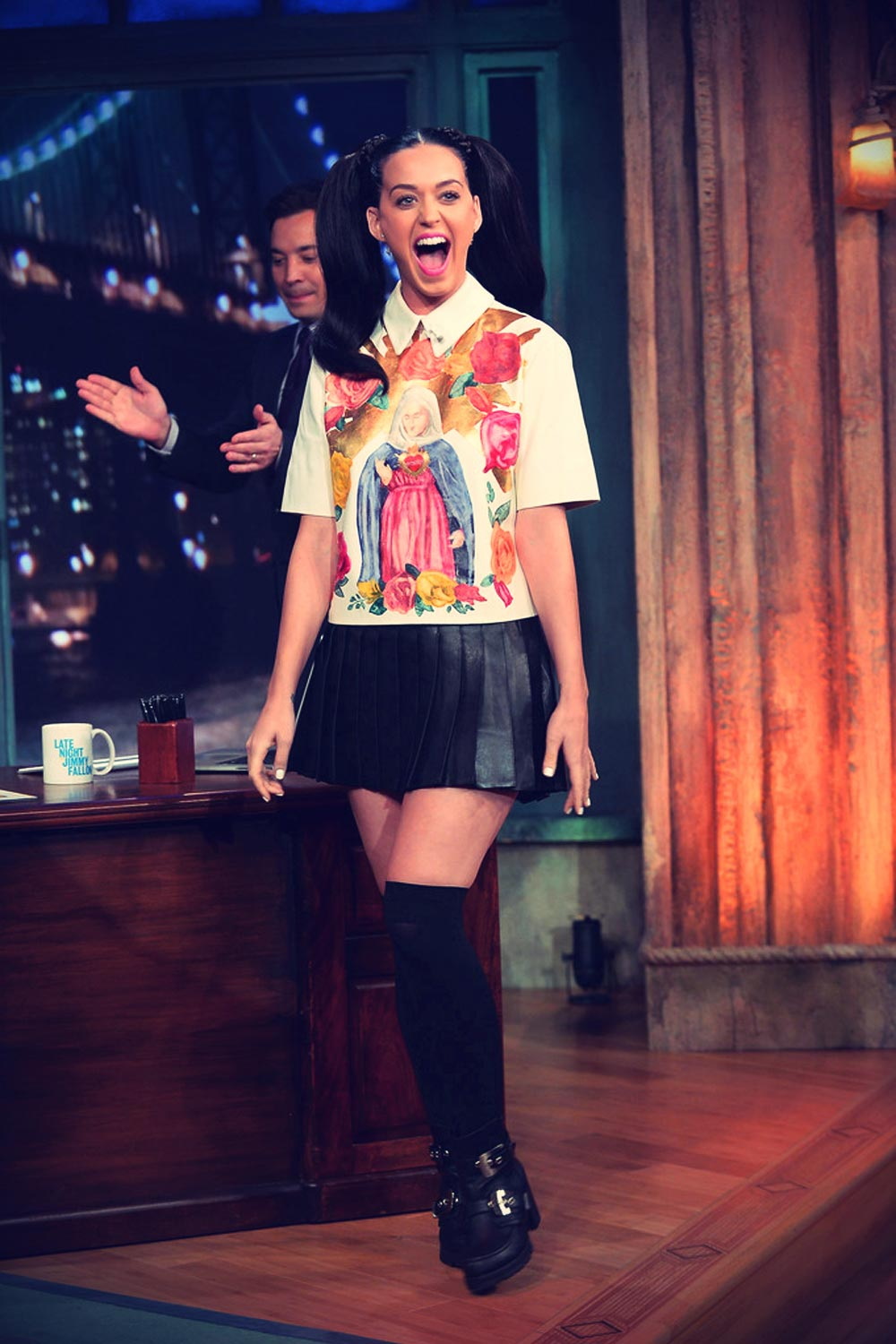Katy Perry at Late Night with Jimmy Fallon appearance