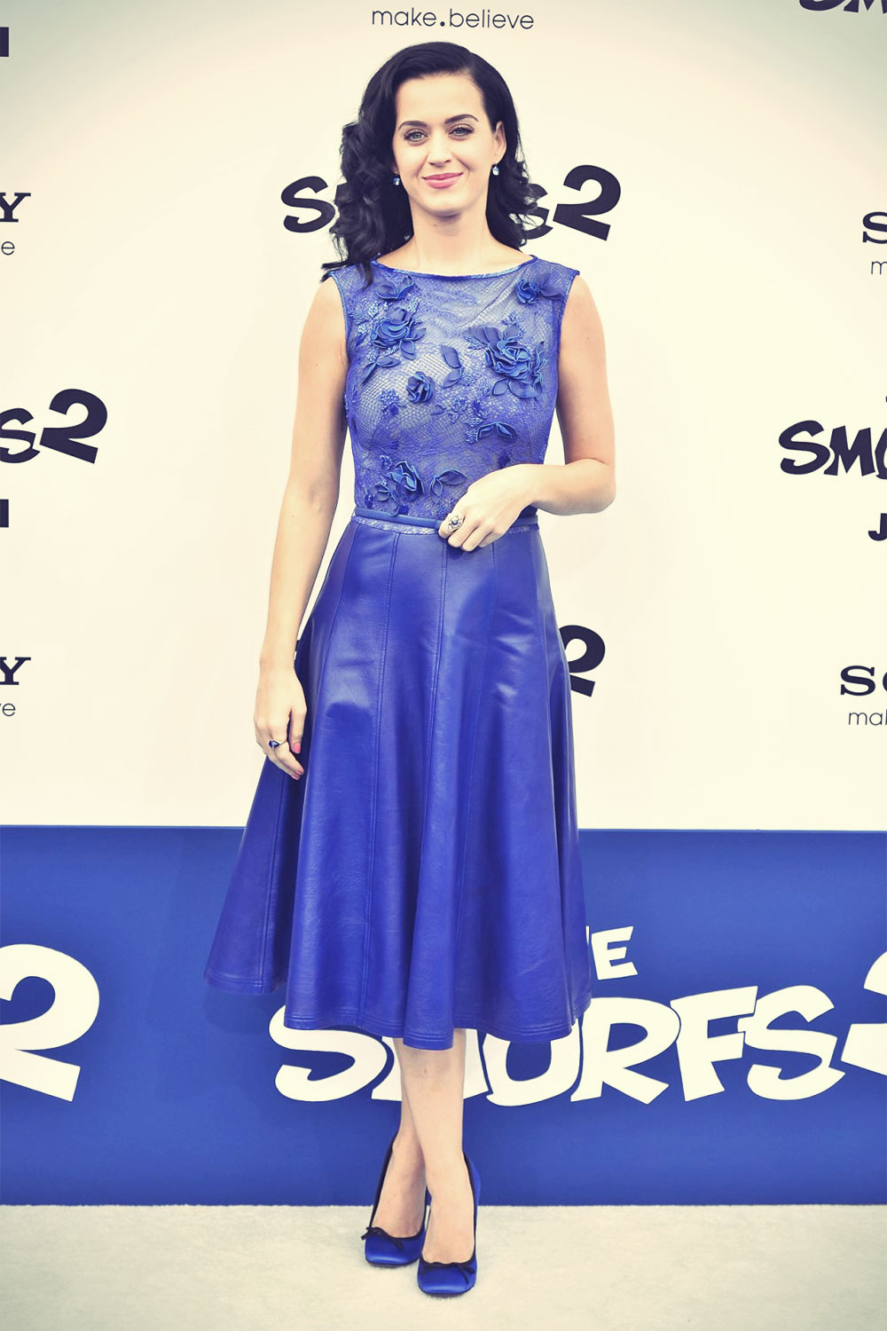 Katy Perry attends The Smurfs 2 Hollywood Premiere