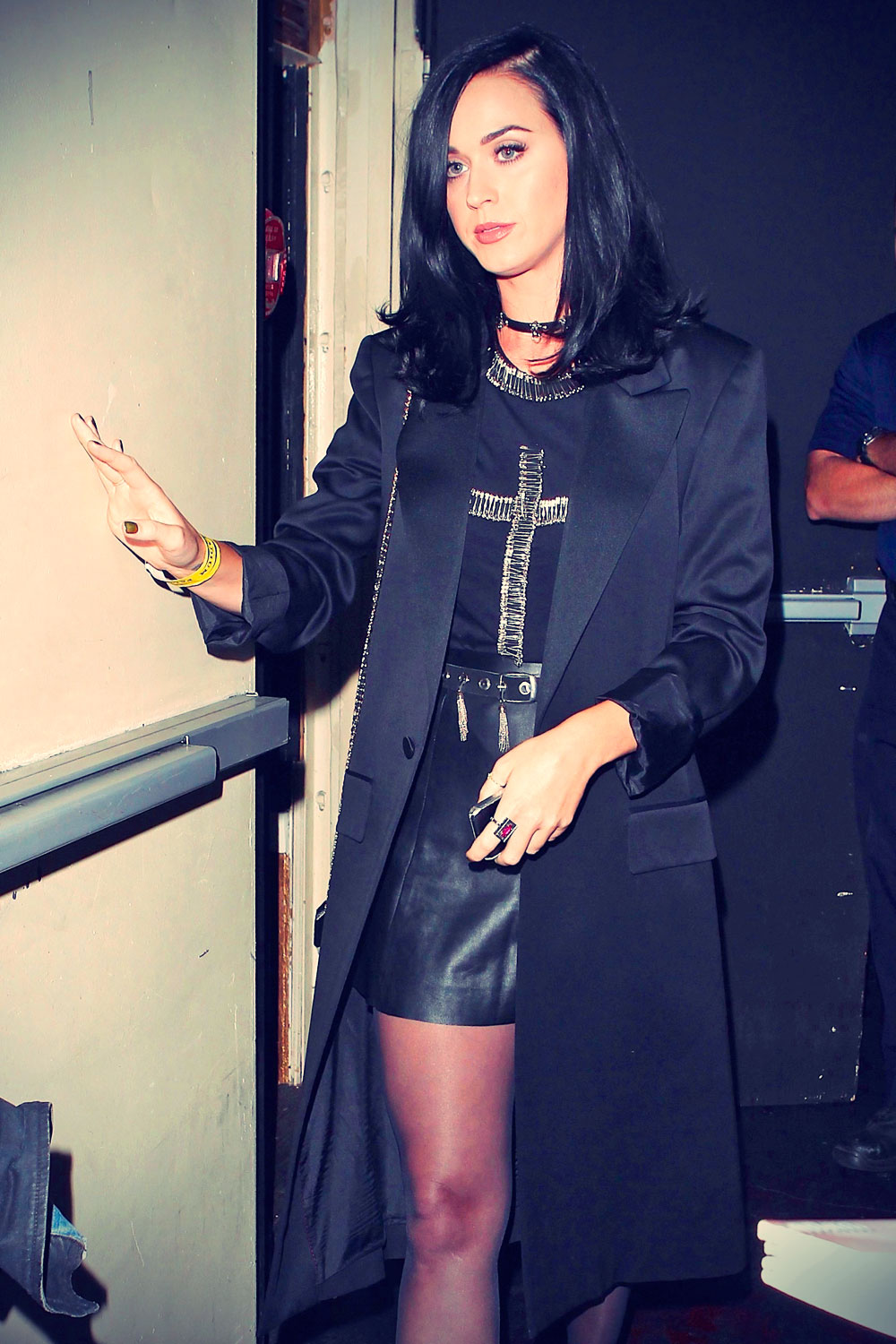 katy perry seen while leaving the pantages theater