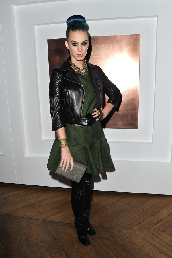 Katy Perry at Yves St Laurent AW 2012 Show in Paris