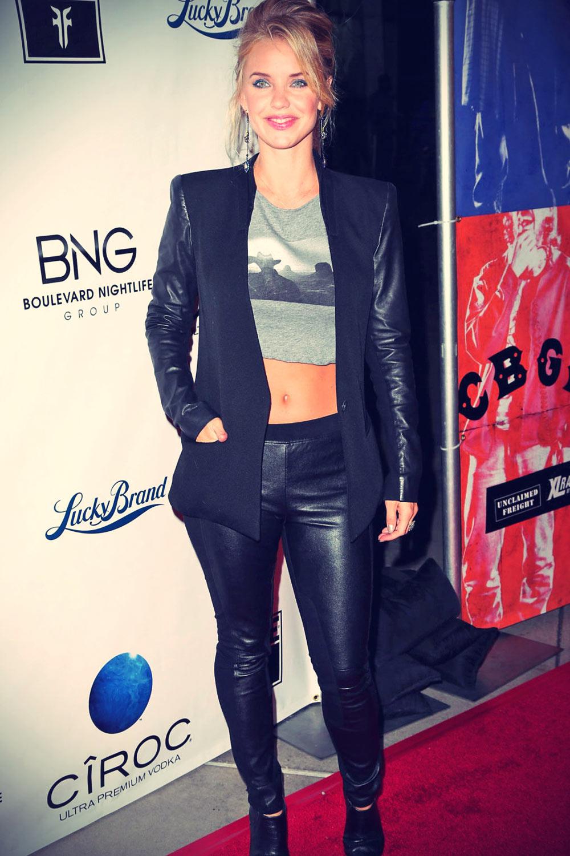 Kelli Garner attends CBGB Hollywood Premiere