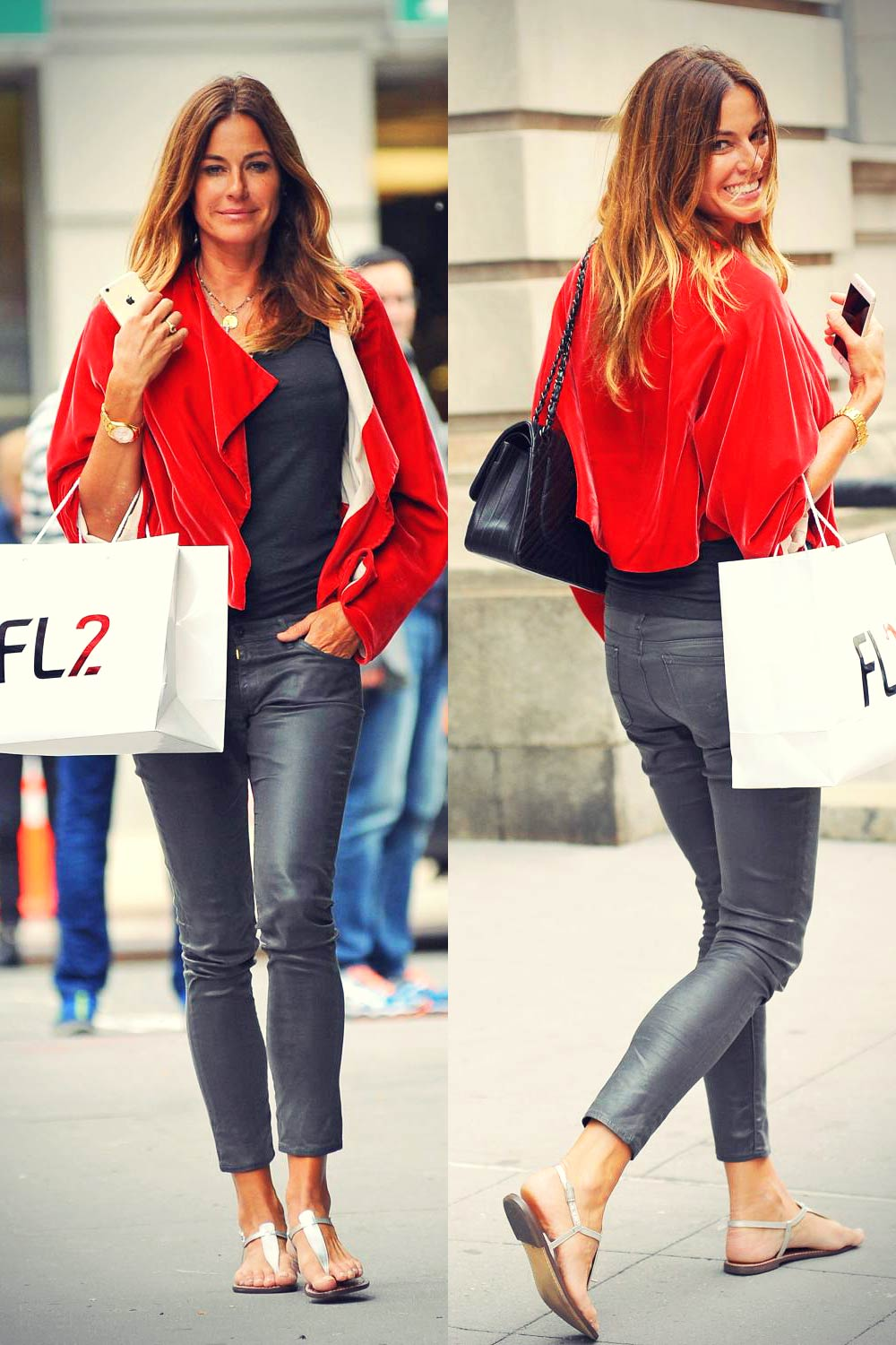Kelly Bensimon spotted in Soho