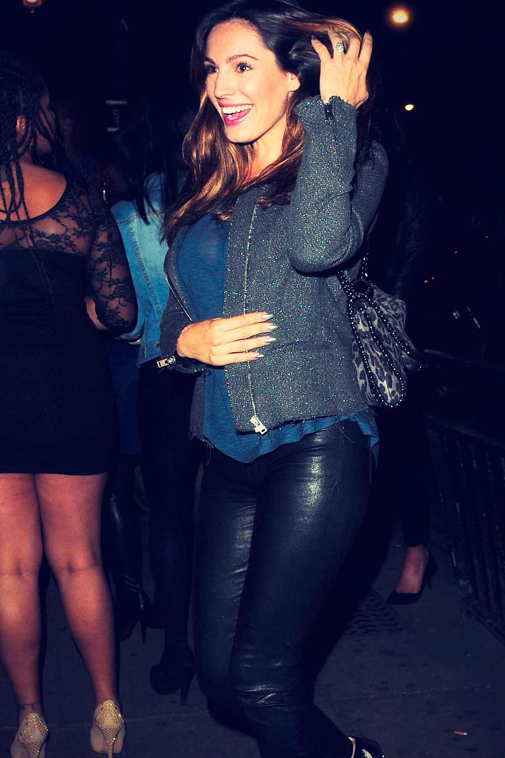 Kelly Brook at Stringfellows nightclub