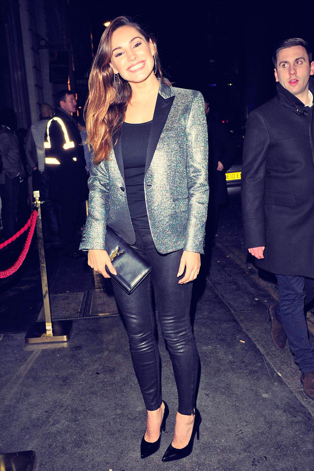 Kelly Brook seen leaving Steam & Rye in London