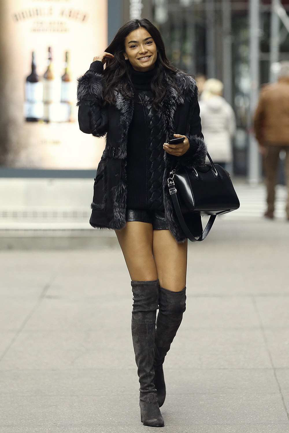 Kelly Gale attends Victoria's Secret Fashion Show fittings