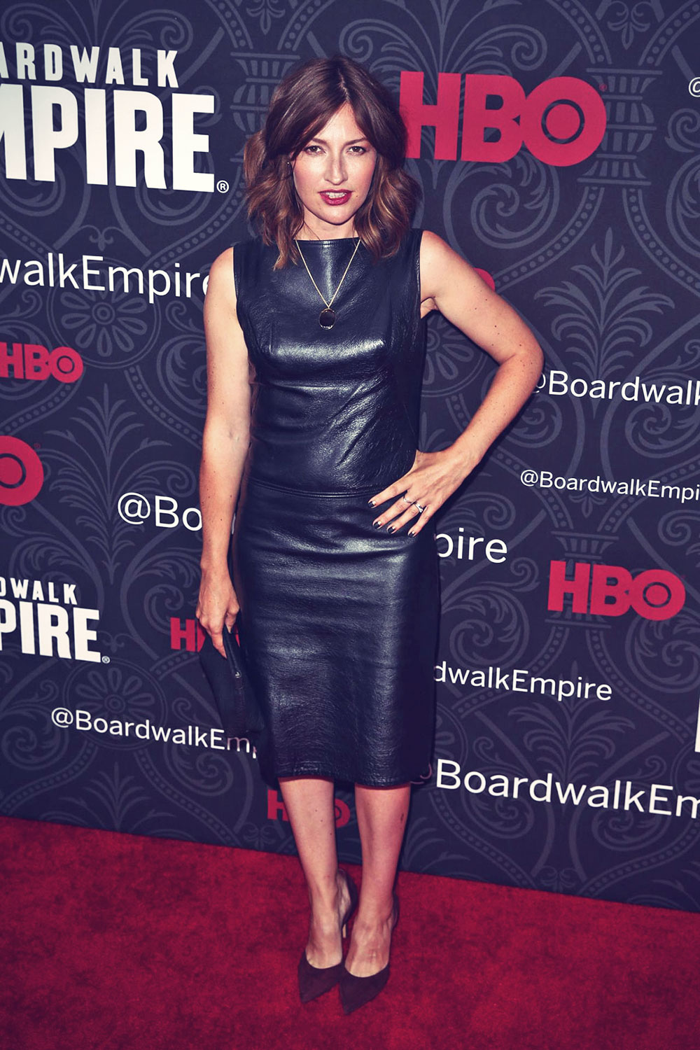 Kelly MacDonald attends the season five premiere of their hit show Boardwalk Empire