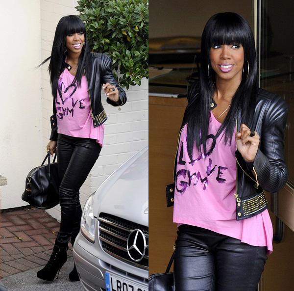 Kelly Rowland arrives at Fountain Studios for X Factor rehearsals