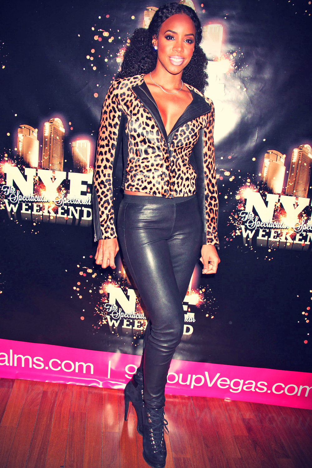 Kelly Rowland attends New Year's eve weekend