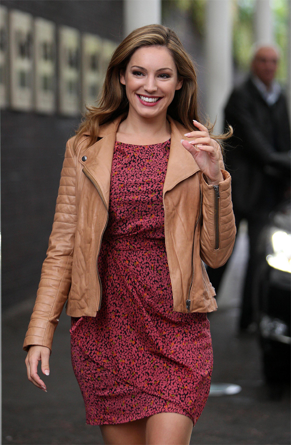 Kelly Brook at ITV studios appearing
