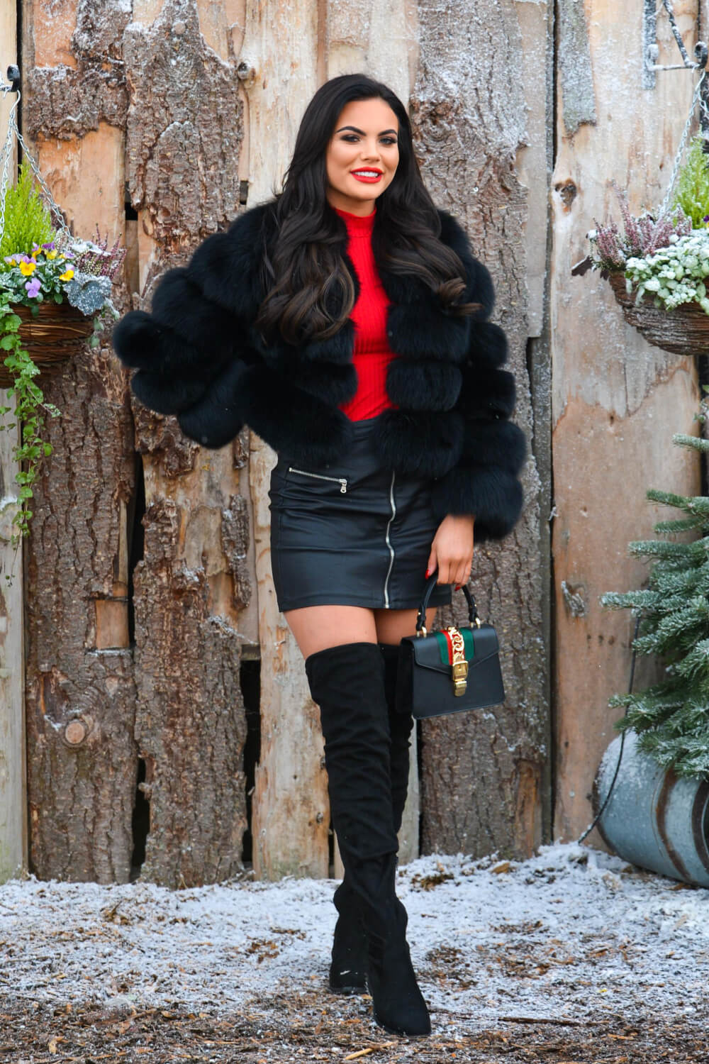 Kelsey Stratford at The Only Way is Essex Christmas Special filming