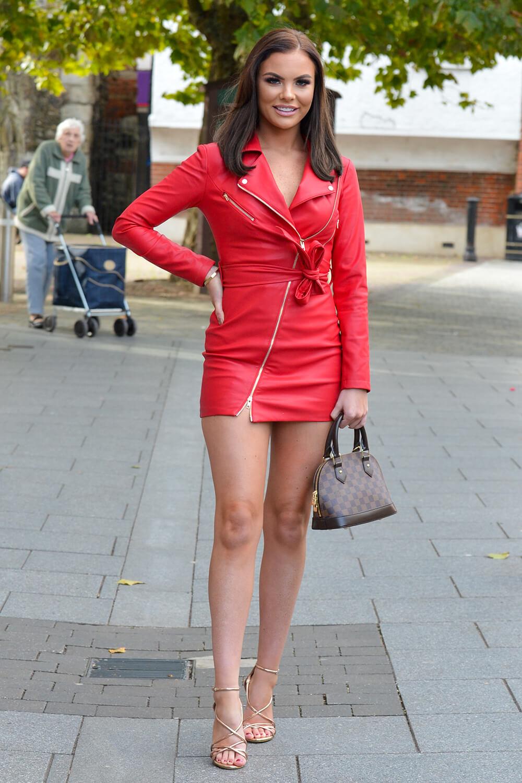 Kelsey Stratford filming Towie at Bloc 40 Nightclub