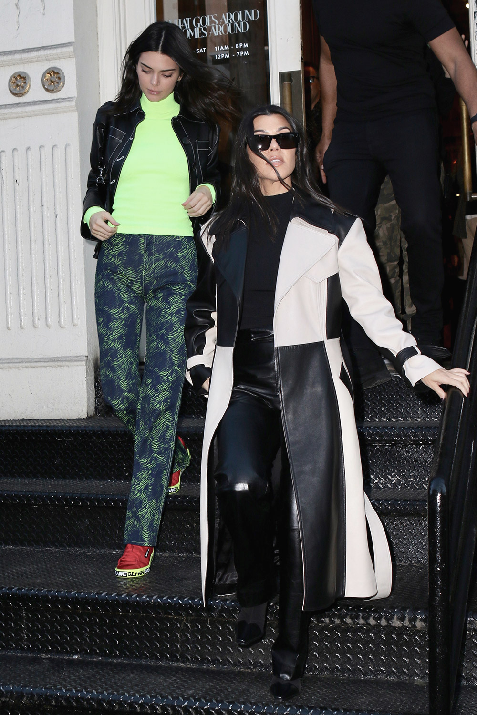 Kendall Jenner & Kourtney Kardashian spend the afternoon shopping