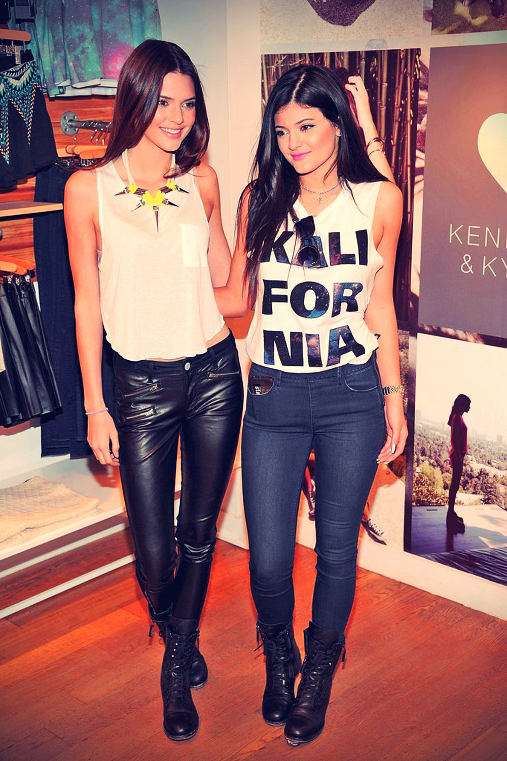 Kendall And Kylie Jenner attend Fall Collection Preview