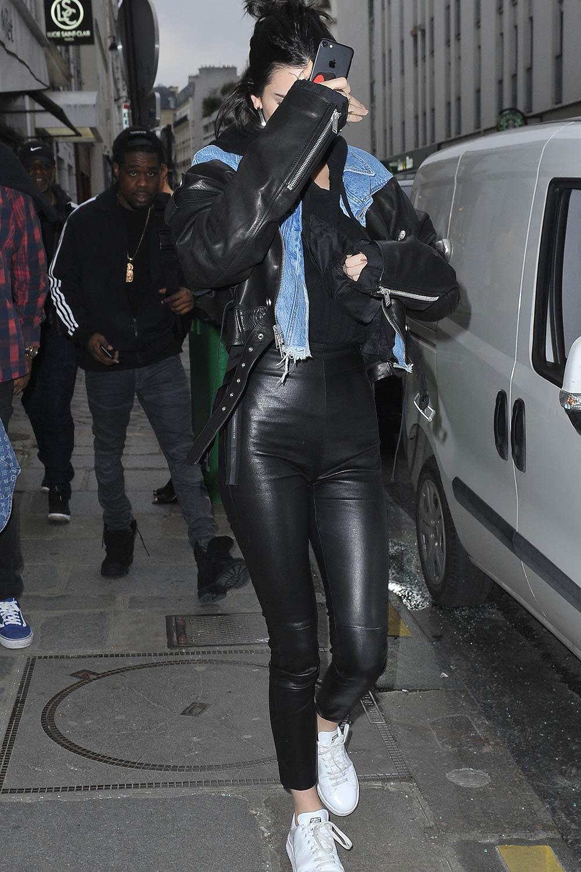Kendall Jenner arrives at her hotel